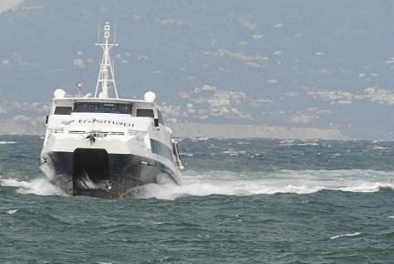 El temporal ha provocado grandes olas en Sa Mesquida, así como en todo el litoral de la costa norte.
