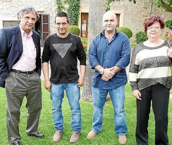 Mae de la Concha, Eduardo Maspolet y Sigfrid Bernal, el pasado jueves.