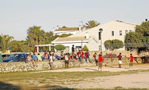 El espacio promocional de Balears, ayer cuando se llevaban a cabo los últimos preparativos