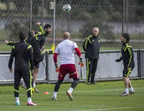 Urko Otegui. El pívot vasco luchó de lo lindo en los minutos que dispuso ayer ante el Real Madrid