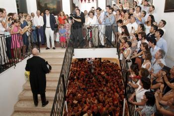 Protestas. El arbitraje en el partido entre el CE Alaior y el Mallorca B originó más de una protesta