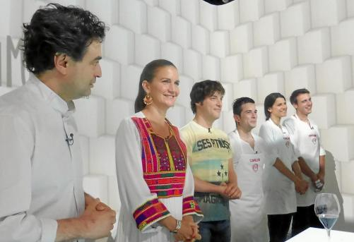 De derecha a izquierda Iago Negueruela, Francina Armengol, Conxa Juanola y Vicenç Tur