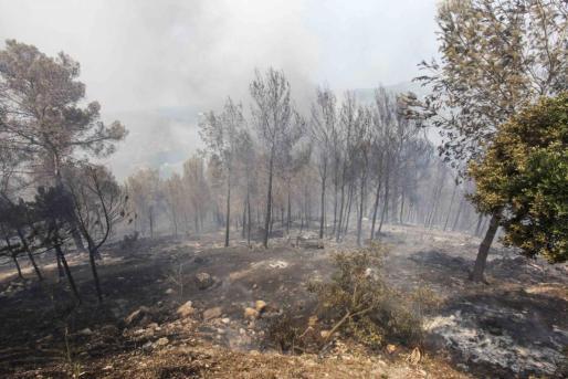 Menorca Fornells incendio restaurante Es Pla inspeccion busqueda caus
