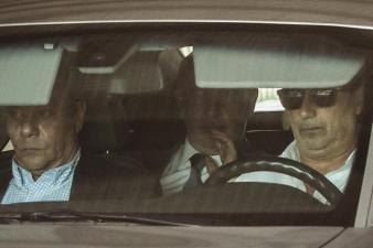 El conseller catalán de Asuntos Exteriores, Raül Romeva, a su llegada a la reunión semanal del ejecutivo