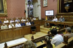 Joan Flametes tiene previsto en las próximas semanas realizar algunas visitas a los centros educativos del municipio y al geriát