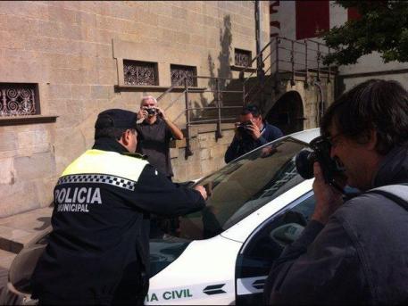 Joana Casasnovas, a su llegada a los Juzgados de Ciutadella