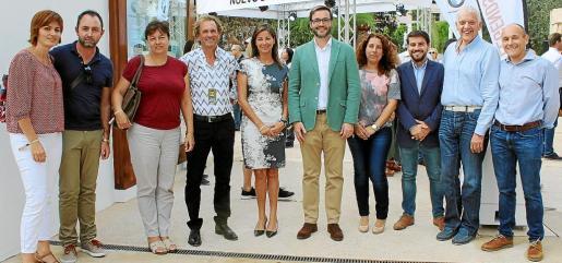 La directora general de Trabajo, Isabel Castro, el conseller Negueruela y el conseller menorquín Miquel Company