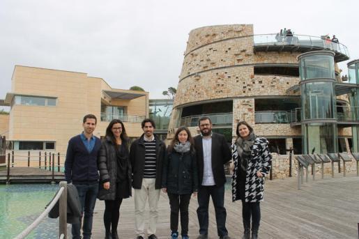 El púgil de Ciutadella, con su alumno, de camino a Gran Canaria.