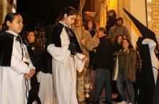 Imatge del Concurs de Sons de Fabiol d'ahir as Pins, en el moment de sonar-lo n'Enric Juaneda