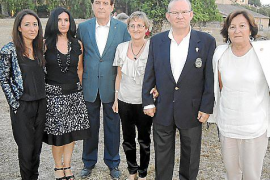 General view shows the burning Sorrento ferry crossing the Mediterranean, in Spain, in this handout image