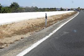 Accidente de un ciclista y retenciones en la carretera general