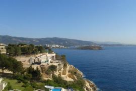 Imagen del avión que ha aterrizado en Palma ante la alerta de amenaza terrorista