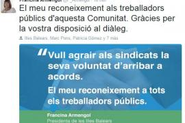 Echenique amenaza con «extirpar las malas hierbas» si continúan los enfrentamientos internos