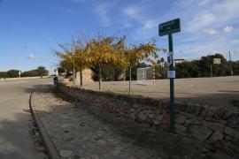 Remolino en el parking de Cala en Turqueta creado por una corriente térmica