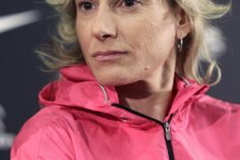 Tita Llorens desafía el mal tiempo y sigue entrenando a pesar del frío