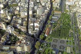 Imagen aportada para criticar la destrucción del arbolado en el cruce de El Pilar